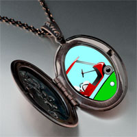 Necklace & Pendants - golf trolley photo italian pendant necklace Image.