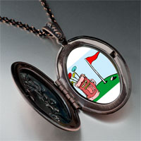 Necklace & Pendants - cartoon clubs bag photo italian pendant necklace Image.