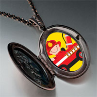 Necklace & Pendants - little cute fireman photo italian pendant necklace Image.