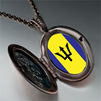 Necklace & Pendants - barbados flag photo italian pendant necklace Image.