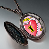 Necklace & Pendants - heart lock photo italian pendant necklace Image.