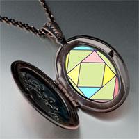 Necklace & Pendants - multi color geometric figure photo italian pendant necklace Image.