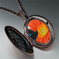 Necklace & Pendants - butterfly flower photo italian pendant necklace Image.