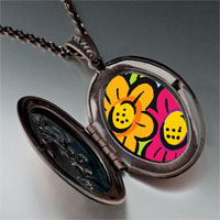 Necklace & Pendants - hand painted flowers photo italian pendant necklace Image.