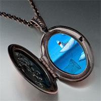 Necklace & Pendants - catching fish photo italian pendant necklace Image.