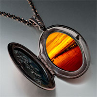 Necklace & Pendants - sunset glow photo italian pendant necklace Image.