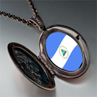 Necklace & Pendants - nicaragua flag photo italian pendant necklace Image.
