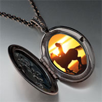 Necklace & Pendants - riding off into sunset pendant necklace Image.