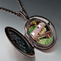 Necklace & Pendants - huts on green pendantoval flower gifts for women necklace Image.