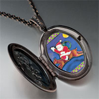 Necklace & Pendants - santa on christmas rudolph reindeer pendant necklace Image.