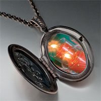 Necklace & Pendants - red holiday candles pendant necklace Image.