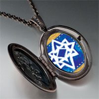 Necklace & Pendants - jewish stars pendant necklace Image.