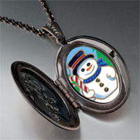 Necklace & Pendants - jewelry christmas gifts snowman in woods pendant necklace Image.