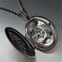 Necklace & Pendants - cat in black &  white pendant necklace Image.