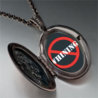 Necklace & Pendants - no whining sign pendant necklace Image.
