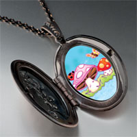 Necklace & Pendants - mushrooms butterfly pendant necklace Image.