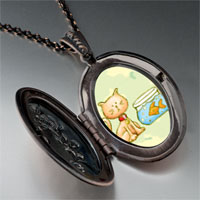 Necklace & Pendants - cat goldfish pendant necklace Image.