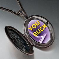 Necklace & Pendants - purple suck pendant necklace Image.