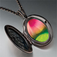 Necklace & Pendants - pink green fractal design pendant necklace Image.