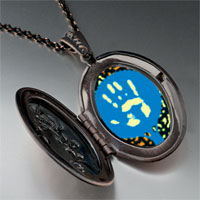 Necklace & Pendants - graffiti hand pendant necklace Image.