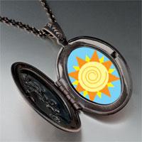 Necklace & Pendants - sun swirl pendant necklace Image.