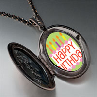 Necklace & Pendants - happy birthday green pendant necklace Image.