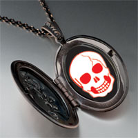 Necklace & Pendants - halloween skull bone pendant necklace Image.
