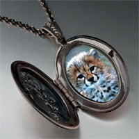 Necklace & Pendants - baby cheetah cub pendant necklace Image.