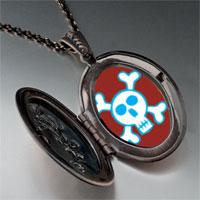 Necklace & Pendants - halloween skull crossbones pendant necklace Image.