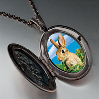 Necklace & Pendants - bunny in field pendant necklace Image.