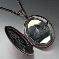 Necklace & Pendants - grey cat pendant necklace Image.