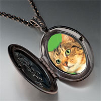 Necklace & Pendants - green eyed cat pendant necklace Image.
