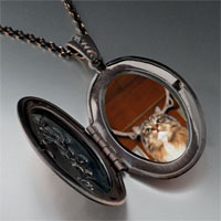 Necklace & Pendants - christmas rudolph reindeer cat pendant necklace Image.