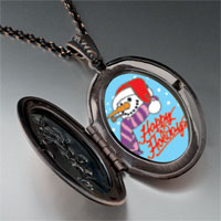 Necklace & Pendants - jewelry happy holidays christmas gifts snowman pendant necklace Image.