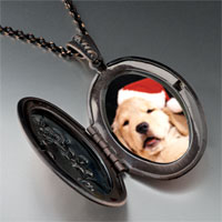 Necklace & Pendants - puppy santa pendant necklace Image.
