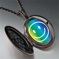 Necklace & Pendants - rainbow happy face pendant necklace Image.