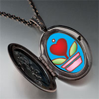 Necklace & Pendants - heart plant pendant necklace Image.