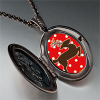 Necklace & Pendants - dancing christmas rudolph reindeer pendant necklace Image.