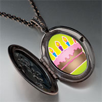 Necklace & Pendants - cake pink frosting pendant necklace Image.