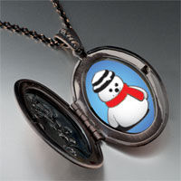 Necklace & Pendants - jewelry christmas gifts snowman red scarf pendant necklace Image.