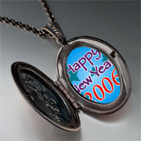 Necklace & Pendants - happy new year 2006  blue pendant necklace Image.