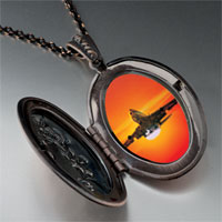 Necklace & Pendants - sunset airplane pendant necklace Image.
