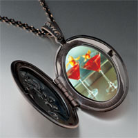 Necklace & Pendants - tropical martini pendant necklace Image.