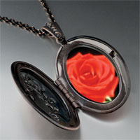 Necklace & Pendants - red rose pendant necklace Image.