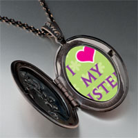 Necklace & Pendants - i heart sister photo pendant necklace Image.