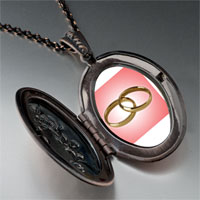 Necklace & Pendants - wedding ring pink golden pendant necklace Image.