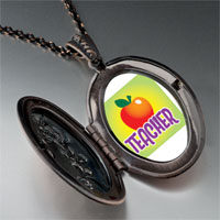 Necklace & Pendants - teacher apple pendant necklace Image.