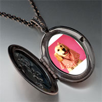 Necklace & Pendants - retriever in pink pendant necklace Image.