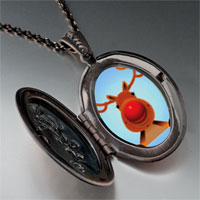 Necklace & Pendants - christmas rudolph pendant necklace Image.