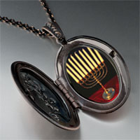 Necklace & Pendants - family menorah pendant necklace Image.